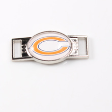Chicago Bears NFL Football Team Logo Oval Shoelace Charms For Sport Shoes And Paracord Bracelets Jewelry Decoration 6pcs