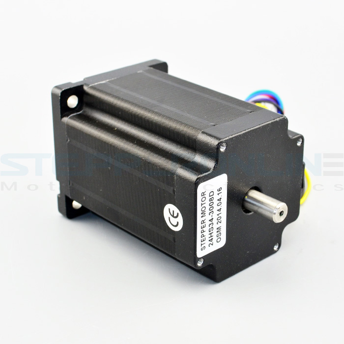 Nema 24 Stepper Motor 3.1Nm/439oz.in 3A 8-wire 8mm Dual Shaft CNC Mill Lathe Laser Router<br>