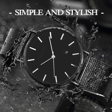 BINZI New Ultrathin Watch Men Black Quartz Men Watch Calendar Stainless Stell Simple Grace Waterproof Relogio Masculino(China)