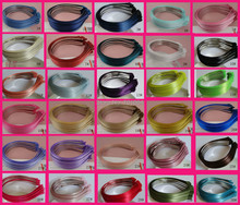 50PCS Assorted colors for selection 5mm satin ribbon covered plain Metal Hair Headbands for DIY Hair jewelry,BARGAIN for BULK(China)