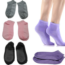 New 2016 fitness  Ladies Girls Women Sport Pilates Yoga Non Slip Grip Socks 4 Colors can choose