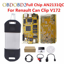 For Renault Can Clip V172 Full Chip CYPRESS AN2131QC+Reprog V151 OBDII Diagnostic Interface CAN Clip For Renault Code Scanner(China)