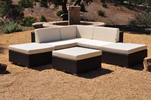 Hot Sale wicker patio furniture outdoor rattan sofa sectional corner sofa set(China)
