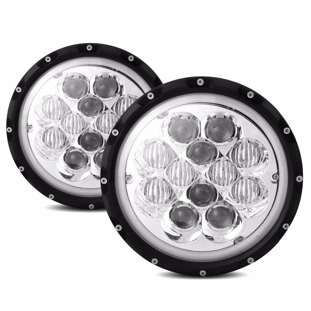 2PCS 7 60W Round Headlight 5D LED Driving Light for Off-road Jeep wrangler Trucks - Blue with white Halo Ring<br><br>Aliexpress