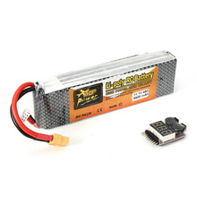 Hot New ZOP Power 11.1V 5500mAh 3S 45C Lipo Battery XT60 Plug With Remote Battery Monitor(China)