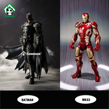 New Iron Man MK43 Batman Action Figure Super Heroes Avengers Kids Toys Action Toy Figures Collectible Gift Toy(China)