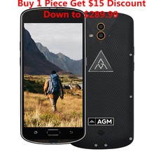 "AGM X1 IP68 Waterproof 5.5"" Qualcom Snapdragon 617 smartphone Octa Core 4GB RAM 64GB ROM 5400mAh 13MP Dual Camera mobile Phone"