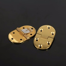 "2Pcs Brass Butler Tray Hinge Round Edge 2-1/2""x1-1/2"" With Screws Folding Flap Brass Hinges  6.5*3.8*0.3cm"