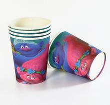 10pcs/lot paper cup Trolls  Kids Birthday party supply event party supplies party Decoration Set
