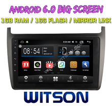 WITSON 9 inch BIG SCREEN Android 6.0 CAR GPS for VOLKSWAGEN POLO 2012 GPS NAVIGATION Quad core 1GB RAM+DVR/WIFI+DSP+OBD+DAB+3G(China)
