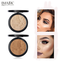 IMAGIC Highlighter Face Powder Slope Pattern Design Makeup Highlighter Bronzer Powder Beauty Contour Illuminator Make Up(China)