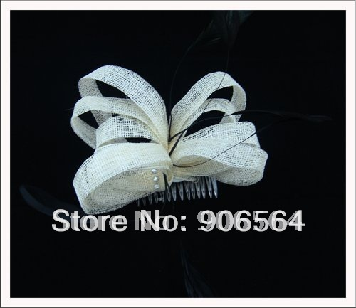sinamay fascinator hats with rhinestone decoration nice women Cocktail millinery hair accessories Free shipping 20 colors MSF060