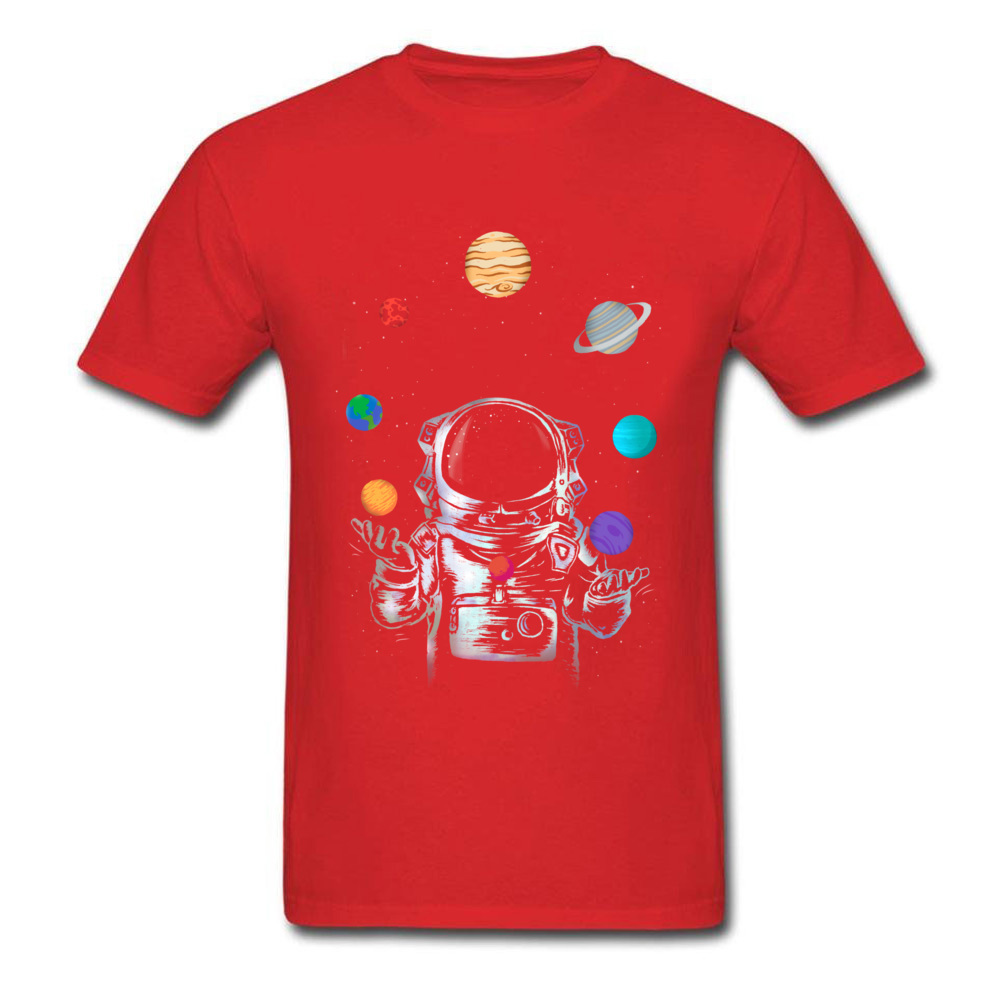 Space Circus Crazy Labor Day 100% Cotton Round Neck Male Tops & Tees Party T-shirts Plain Short Sleeve Tshirts Space Circus red