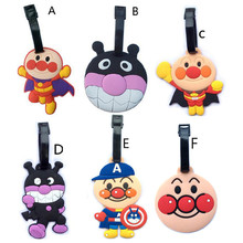 Fashion Anpanman Suitcase Luggage Tag PVC ID Address Holder Baggage Label Silicone Identifier Travel Accessories Luggage Label