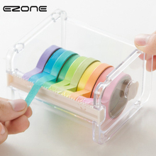 EZONE 1P Stationery Masking Tape Cutter Washi Tape Organizer Cutter Office Tape Dispenser Office School Supplies Random Color(China)