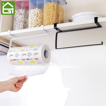 Kitchen Wash Cloth Hanger Wardrobe Clothing Hook Under Shelf Disposable Paper Hanging Storage Rack Cupboard Towel Shelves