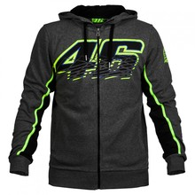 Valentino Rossi VR46 Hoodies Sweatshirts MotoGP Motorcycle Sports Dark Grey Jackets