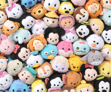 Tsum Tsum Mini 9cm Plush Toys Screen Cleaner cartoon Tsum Tsum plush soft stuffed doll keychain pendant accessory kids gift