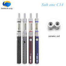 Sub Two 5 pcs/lot e cigarette one C14 starter Kitcigarette electronic 1.5ml 1.5ohm ceramic coil tank vape pen kits - Subtech ecig store