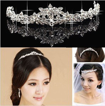 Sparkling Crystal Flowers Bridal Tiara Crown Wedding Party Hairwear Accessory Women Hair Jewelry