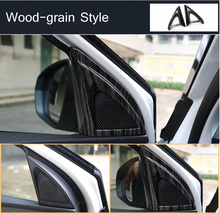 Inside Door Pillar Audio Speaker Sound Horn Decoration Car-covers For PEUGEOT 3008 4008 5008 2017 Car-styling 2 Style Optional(China)