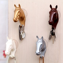 Wall Decorative Hook Resin Home Furnishing Modern Small Horse Hooks for Wall Jewelry Keys Hangers