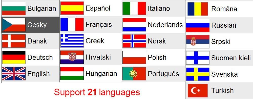 CDP TCS languages