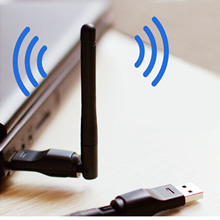 Elisona RT5370 150Mbps 2.4GHz Rotatable WLAN Wireless Network Card USB WIFI Adapter Dongle Stick  Antenna Connector for PC
