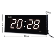 Large led digital wall clock living room big screen led numbers clock desktop and hanging dual-use decor clock with luminova
