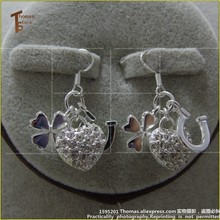 PT1297 Earbob Lucky Charm Thomas Style Good Jewelry In silver-plated Fit Bag Bracelet(China)