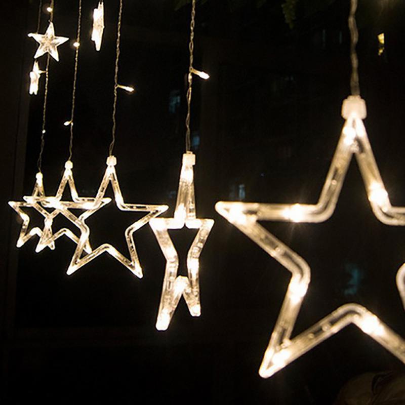 2M-Christmas-Lights-AC-220V-EU-Romantic-Fairy-Star-LED-Curtain-String-Lighting-For-Holiday-Wedding