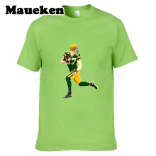 Men T-shirt Green Bay #87 Jordy Nelson Clothes Short Sleeve T SHIRT Men's Fashion Comic Cartoon W0122009(China)