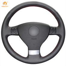MEWANT Black Artificial Leather Car Steering Wheel Cover for Volkswagen Golf 5 Mk5 VW Passat B6 Jetta 5 Mk5 Tiguan 2007-2011(China)