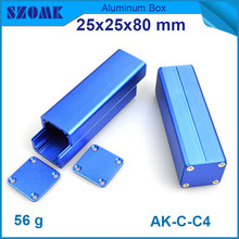 1 piece small aluminium enclosure dark blue electronic switch box for LED control 25*25*80mm(China)