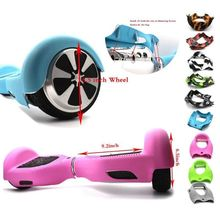 "Hoverboard Silicone Case Cover Anti Scratch Sleeve/Wrap/Enclosure for 6.5"" 2 Wheels Self Balancing Electric Scooter Skateboard(China)"