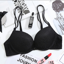 Buy Fashion bra spring summer seamless sexy front button bra push underwear buckle female small chest bra