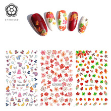 Harajuku Japanese Nail Stickers Water Transfer Nail Art Sticker Leaves Flower Butterfly Decals DIY Manicure Tools Decorations