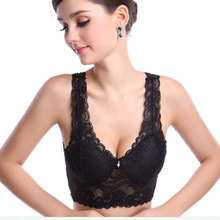 Sexy Women Crop Top Solid Padded Bras Leisure Lace Vest Sleep Bra Hot