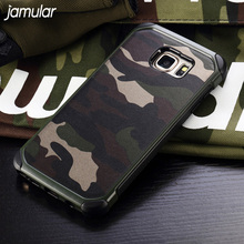 JAMULAR Military Camouflage Case For Samsung Galaxy S8 Plus S7 S6 Edge Hard Cover For Samsung A5 A7 A3 2017 J5 J7 2016 Note 4 5(China)