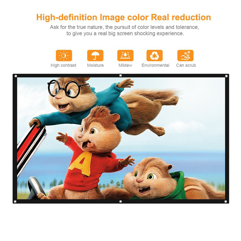 100 Inch Simple Projection Screen-11
