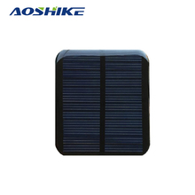 Aoshike 5pcs 0.7W 6V 116mA polycrystalline solar Panel small solar cell PV module for mobile phone battery charger(China)
