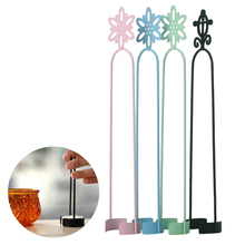 Candy Colors Metal Wrought Iron Black Pillar Candle Holder Decor Candlestick Ornaments Tool