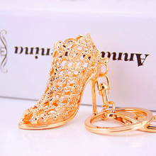 PRO ACME Hollow Out High heel Shoes Keychain Purse Bag Buckle HandBag For Car Keyring Holder Women Best Gift  llaveros PWK0610