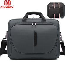 CoolBell Fashion 15.6 inch Laptop Bag 15 Notebook Computer Bag Waterproof Messenger Shoulder Bag Men Women Briefcase Business(China)