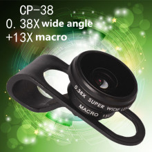 mobile phone lens 0.38X wide angle 13X macro Lens shots universal photo For All Smartphone Universal Clip 2in 1 lenses