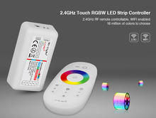 Mi light FUT027 2.4G Wireless Touch screen RGBW led controller DC12V-24A 18A RF remote control for rgbw led strip lights tape(China)