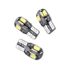 10PCS Canbus T10 8smd 5630 5730 LED car Light Canbus NO OBC ERROR T10 W5W 194 SMD Led Bulb 2017