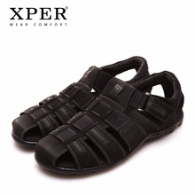 Size 40~45 Brand XPER Men Sandals Shoes Fretwork Breathable Fisherman Shoes Style Retro Gladiator #701/702(China)