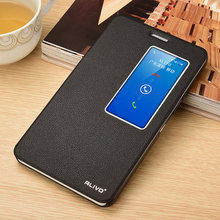 For Huawei honor X2 Luxury smart View Windows Business classics Leather Case For Huawei honor X2 Ultra Thin Flip Cover case #VA
