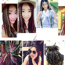 Hot 2017 Women Girl Female 5pc Indian Bohemia Knitting Headband accessories Handmade Ribbon Woven Rope Braided Hair(China)